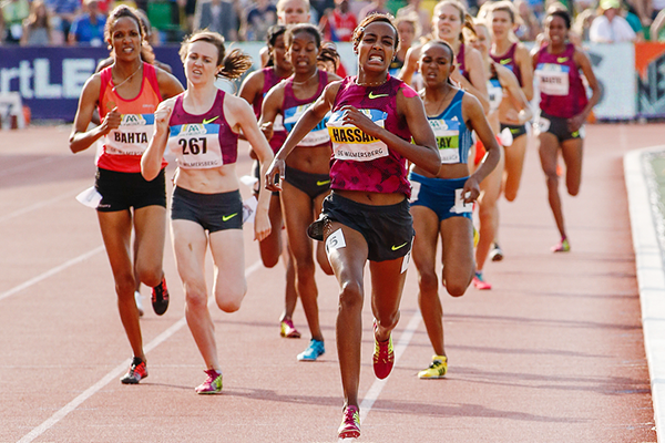 Sifan Hassan on her way to winning the 1500m in Hengelo (Getty Images)