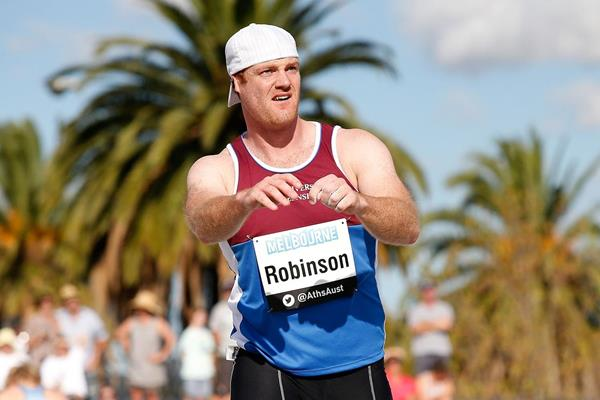Josh Robinson, winner of the javelin at the 2014 Australian Championships (Getty Images)