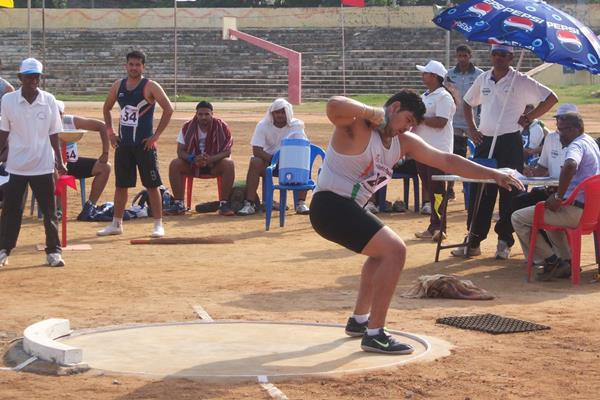 Indian shot putter Shakti Solanki (Ram. Murali Krishnan)