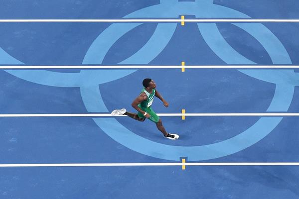 Nigeria's Divine Oduduru in the 200m at the Rio 2016 Olympic Games (AFP / Getty Images)