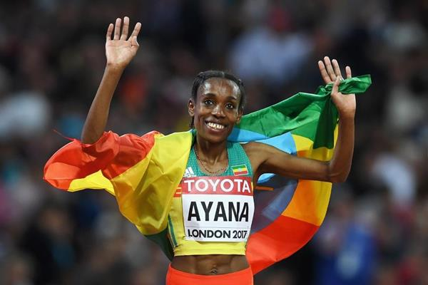 almaz ayana at the iaaf world london getty images