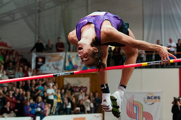 Gianmarco Tamberi on his way to high jump victory in Banska Bystrica (Organisers)