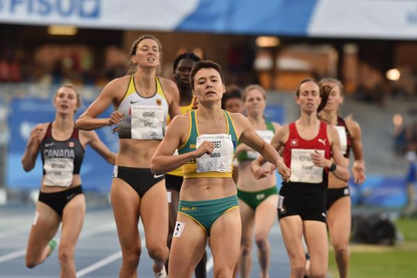 Catriona Bisset wins the 2019 World University Games 800m title (Getty Images)