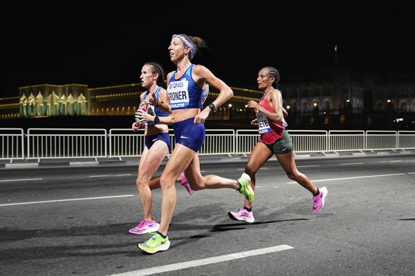 US marathoner Roberta Groner in Doha (Getty Images)