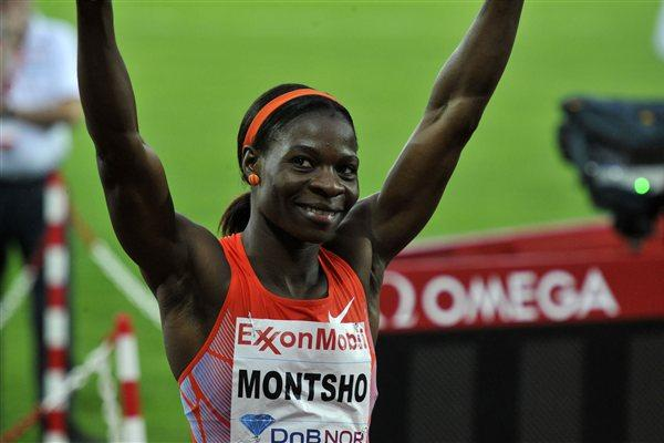 Amantle Montsho after her comfortable 50.10 victory in Oslo (Hasse Sjögren)