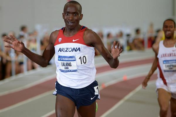 Lawi Lalang, winner of the mile-3000m double at the NCAA Indoor Championships (Kirby Lee)