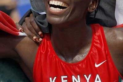 Catherine Ndereba takes her second (2003 and 2007) World Marathon gold medal (AFP / Getty Images)