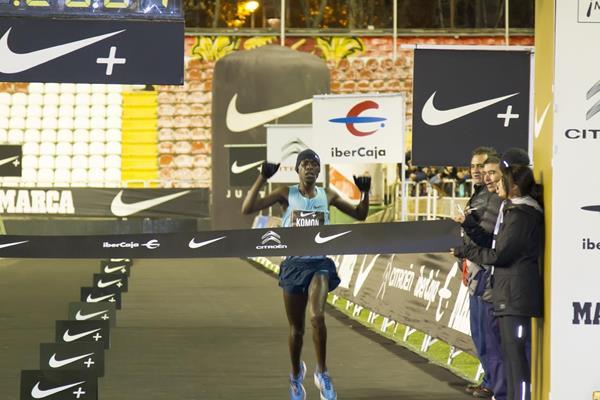 Leonard Komon wins at the 2013 San Silvestre Vallecana in Madrid (Organisers)