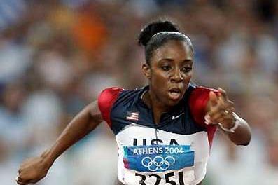 Lashinda Demus (USA) at the Athens Olympics (Getty Images)