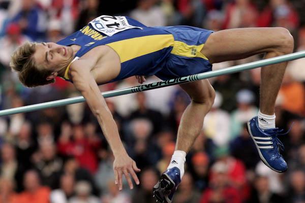 Yuriy Krymarenko of Ukraine wins the men's High Jump (Getty Images)