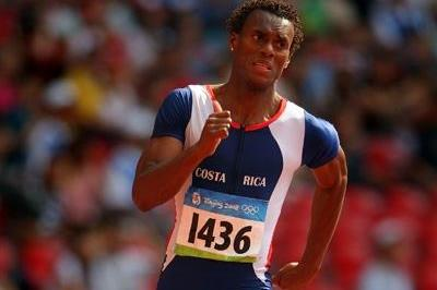 Nery Brenes of Costa Rica wins his 400m heat in Beijing 2008 (Getty Images)