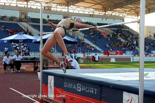Anika Smit (RSA) wins the women's High Jump - African Jnrs, Tunis (Gomri)