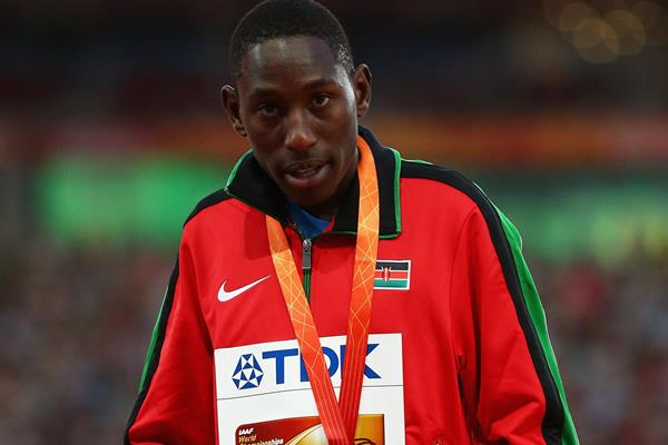 Steeplechase silver medallist Conseslus Kipruto at the IAAF World Championships, Beijing 2015 (Getty Images)