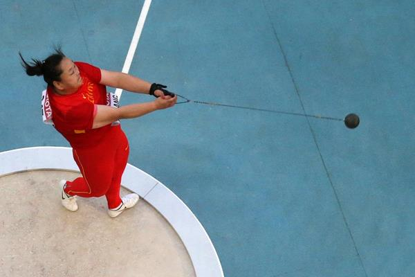 China's Wang Zheng in the hammer (Getty Images)