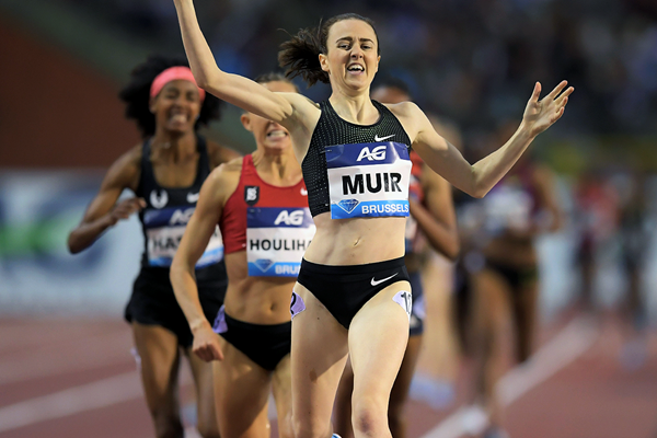 Laura Muir wins the 1500m at the IAAF Diamond League final in Brussels (Gladys Chai von der Laage)