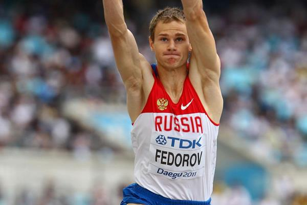 Aleksey Fedorov of Russia competes in the triple jump (Getty Images)
