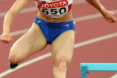 Yulia Pechonkina of Russia advances to the 400m Hurdles semi-finals (Getty Images)