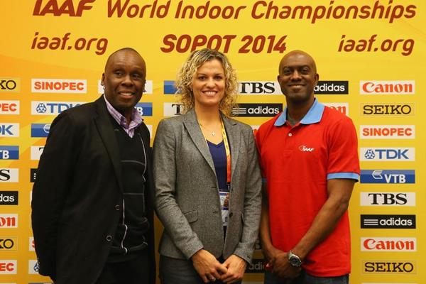 IAAF Ambassadors Bruny Surin, Natallia Dobrynska and Allen Johnson in Sopot (Getty Images)