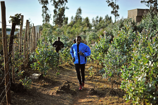 Kenenisa Bekele on a training run in Sululta, near Addis Ababa (AFP / Getty Images)