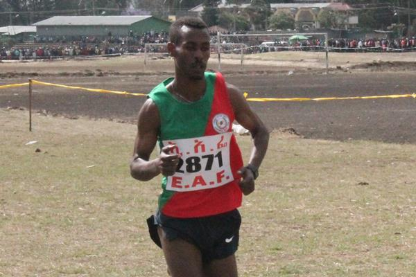 Getaneh Molla at the 2016 Jan Meda International cross country (Leoul Tadesse)