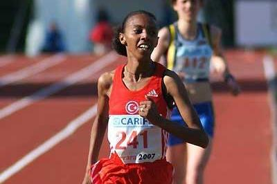 Elvan Abeylegesse wins the 2007 European Cup 10,000m in Ferrara (Lorenzo Sampaolo)