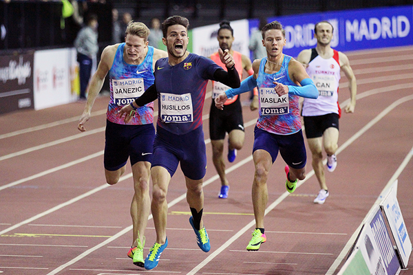 Oscar Husillos wins the 400m at the IAAF World Indoor Tour meeting in Madrid (Jean-Pierre Durand)