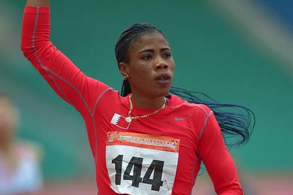 Oluwakemi Adekoya at the 2015 Asian Championships (Asian Championships LOC / AAA)