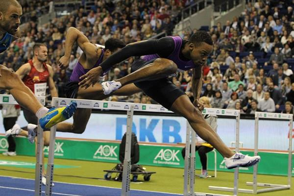 Dimitri Bascou at the ISTAF Indoor 2016 meeting in Berlin (Jean-Pierre Durand)