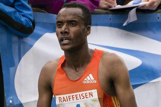 Ethiopia's Muktar Edris after winning the 2013 Media Blenio 10km  (Daniela Salmina)