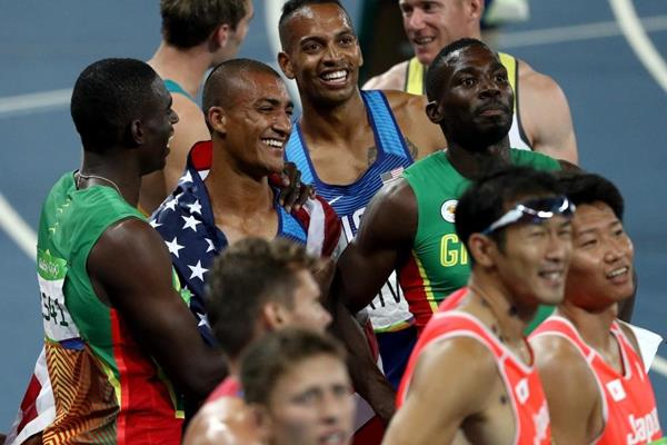 Ashton Eaton at the end of the decathlon at the Rio 2016 Olympic Games (Getty Images)