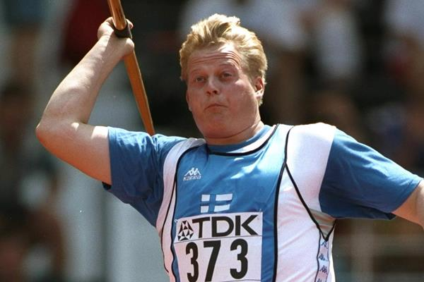 Finland's Seppo Raty in the javelin at the IAAF World Championships (Getty Images)