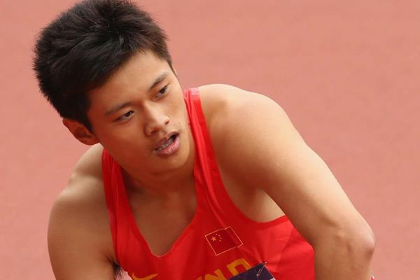 Chinese sprinter Xie Zhenye after the 200m (Getty Images)