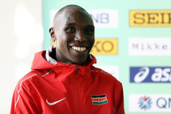 Two-time defending champion Geoffrey Kamworor on the eve of the IAAF/Mikkeller World Cross Country Championships Aarhus 2019 (Getty Images)