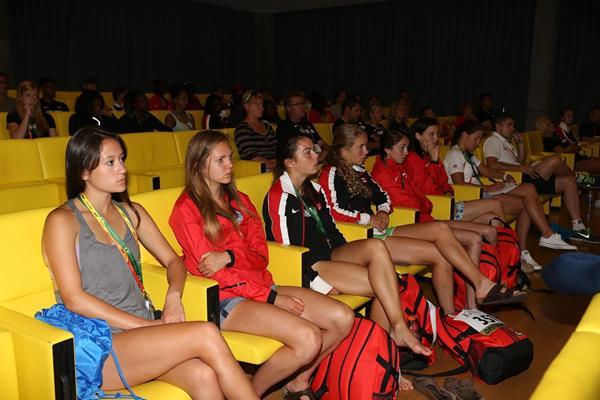 IAAF World Junior Championships, Oregon 2014 media training session (Getty Images)