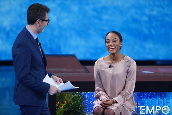 Larissa Iapichino on the 'Che Tempo Che Fa' television show (Getty Images)