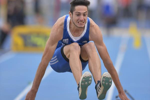 Miltiadis Tentoglou in the long jump at the IAAF World U20 Championships Bydgoszcz 2016 (Getty Images)