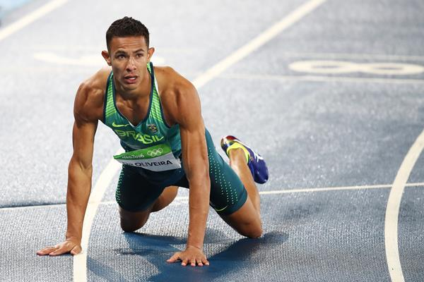 Joao Vitor de Oliveira in the 110m hurdles at the Rio 2016 Olympic Games (Getty Images)