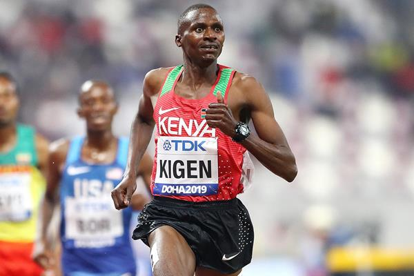 Benjamin Kigen in the steeplechase at the IAAF World Athletics Championships Doha 2019 (Getty Images)