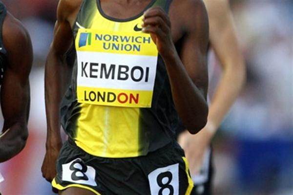 Nicholas Kemboi en route to his runner-up finish in London (2007) (Getty Images)