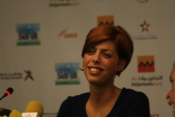 Blanka Vlasic at the pre-meet press conference in Rabat (Bob Ramsak)