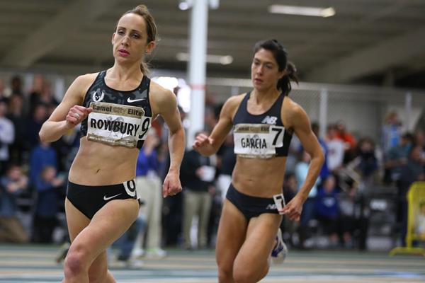 Shannon Rowbury in the 2016 Camel City Invitational mile ( John Nepolitan (dyestat.com))