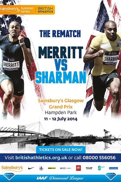 Sainsbury's Glasgow Grand Prix poster - 2014 IAAF Diamond League (organisers)