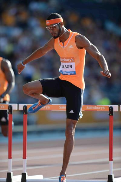 Javier Culson at the 2014 IAAF Diamond League meeting in Glasgow (Jiro Mochizuki)
