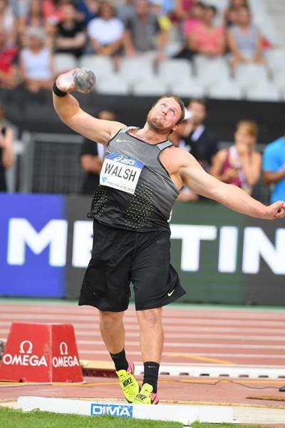 Tomas Walsh wins the shot put at the IAAF Diamond League meeting in Paris (Jiro Mochizuki)