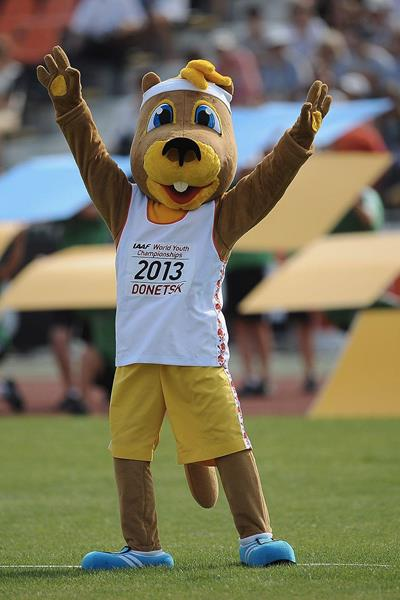 Mascot Ostap at the IAAF World Youth Championships 2013 (Getty Images)