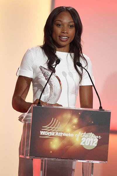Allyson Felix - 2012 World Athlete of the Year (Giancarlo Colombo)