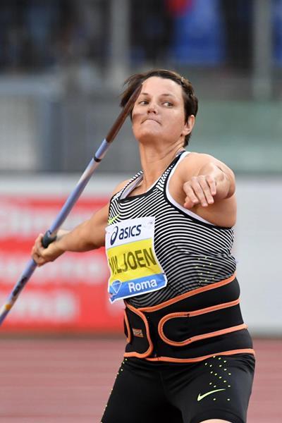 Sunette Viljoen at the 2016 IAAF Diamond League meeting in Rome (Gladys Chai)