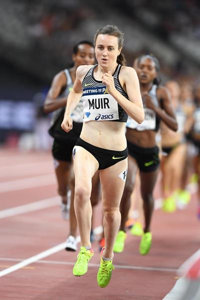 Laura Muir winning the 1500m at the IAAF Diamond League meeting in Paris (Jiro Mochizuki)