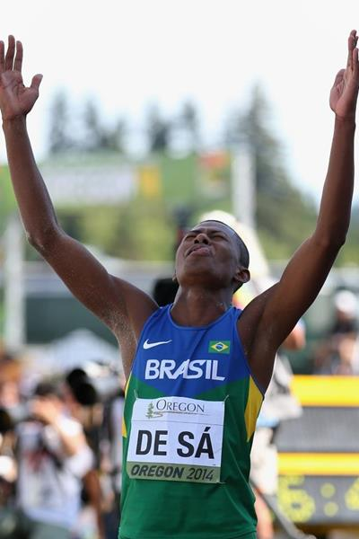 Triple jump bronze medallist Mateus de Sa at the IAAF World Junior Championships, Oregon 2014 (Getty Images)