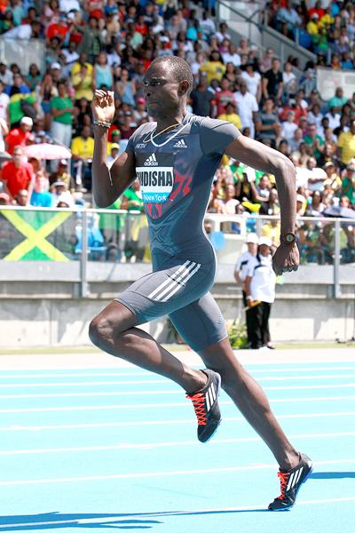 David Rudisha on his way to winning the 800m at the IAAF Diamond League meeting in New York (Victah Sailer)
